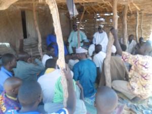 Comité villageois installé à Toute Fandou.